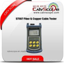 St007 Fiber & cuivre testeur de câble / compteur d'énergie optique / localisateur visuel de défaut / suivi de câble / testeur multifonctionnel