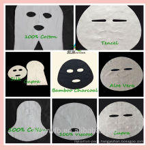 2017 Nonwoven Cosmetic silk face mask fabric facial mask fabric material jumbo rolls