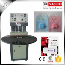 Tipo de placa giratoria máquina de embalaje de la ampolla / tarjeta de papel del PVC máquina de sellado térmica para el hardware, juguetes