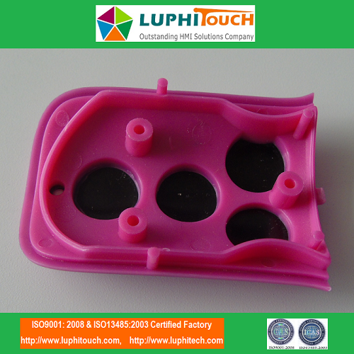 Pink Color Silver Frame In-Mold Decoration Plastic Injection