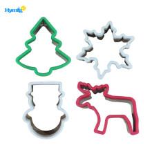 Cortador de galletas de Navidad de acero inoxidable con agarre cómodo