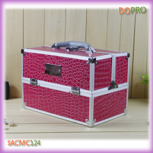 Pink Crocodile PVC Surface Cosmetic Travel Case (SACMC124)