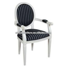 Blanco hotel apoyabrazos de madera comedor silla XD1021