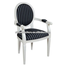 Белый отель деревянный подлокотник обеденный стул XD1021