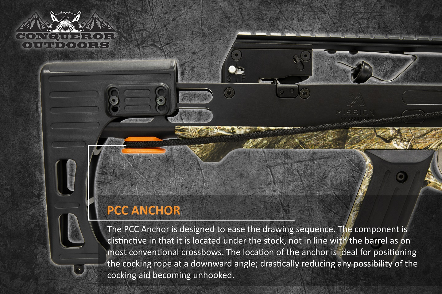 Mission Crossbow 400 Stock Detail with Text