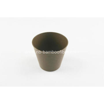 Small bamboo fiber outside thread flower pot