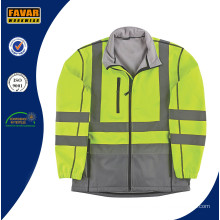 High Vis 2 Tone Waterproof Breathable Softshell Jacket