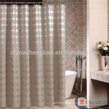 Cortina de ducha de poliéster de estilo europeo cortina de baño de tela