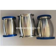 Válvula de retenção sanitária de aço inoxidável tipo bola com Ferrule ambas as extremidades e drenagem manual