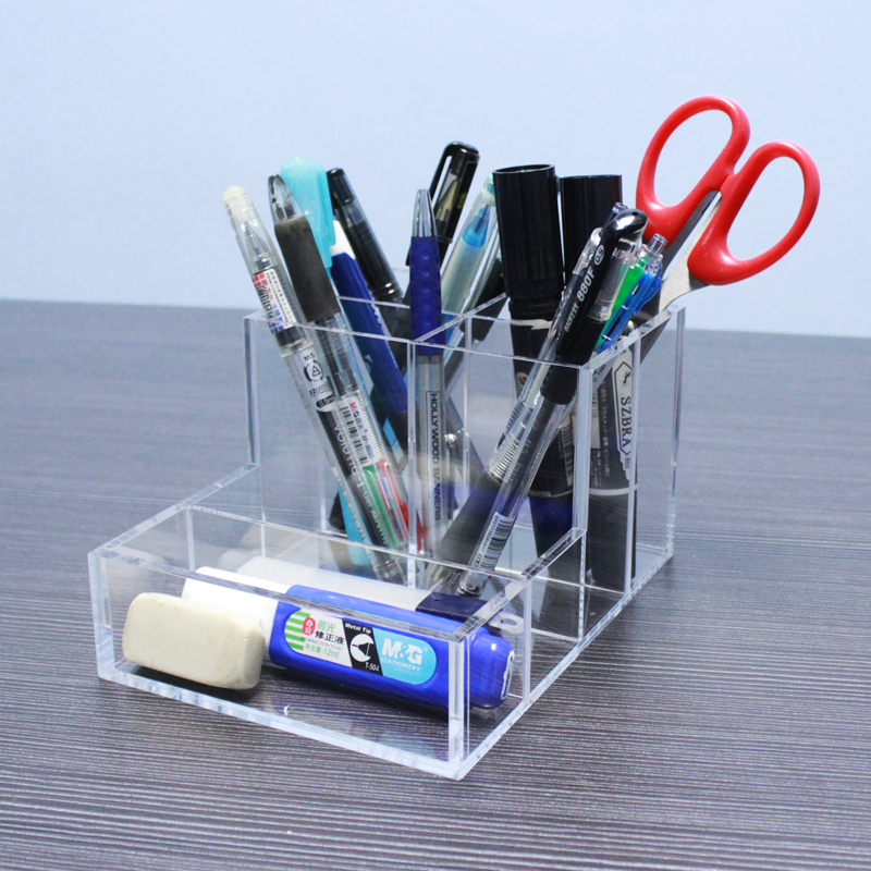 Multi Functional Acrylic Office Desk Accessories Organizers
