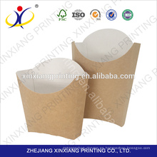 Caja de comida de papel de papas reutilizables manejadas respetuosa del medio ambiente
