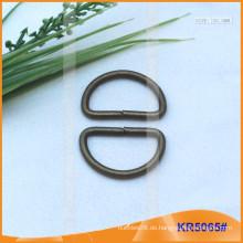 Innengröße 25.5mm Metallschnallen, Metallregler, Metall D-Ring KR5065