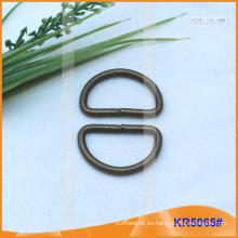 Tamaño interior 25.5mm Metal Hebillas, Regulador de metal, Metal D-Ring KR5065