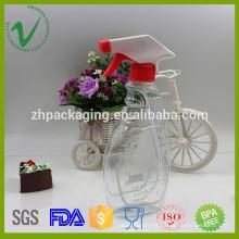 Frasco de plástico shampoo vazio personalizado por atacado com gatilho fabricado na China