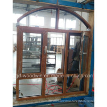 Woodwin Main Product Solid Wood Wooden Window with Double Glass