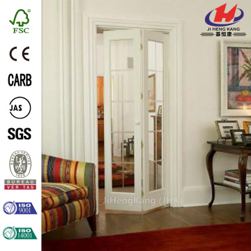 Full Frosted Glass Pine Interior Bi-Fold Door