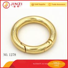 Jinzi marca brillante oro bolsos de color primavera anillo O