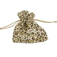 gorgeous leopard print favour satin bag pouch