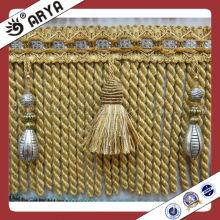 bullion fringe with beads, sofa fringe trim