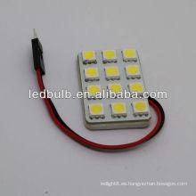 5050 SMD llevó luz domo del coche