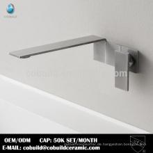 Europäische Badezimmer Sanitär Wand montiert Edelstahl Waschbecken Wasserhahn