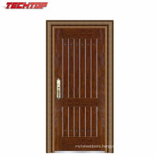 TPS-069 Front Safety Cheap Exterior Steel Villa Entrance Door Design