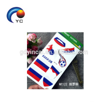 NEW Football National Flag Tattoo Stickers Temporary Russia Flag Face Tattoo