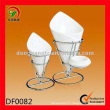 Factory direct wholesale ceramic fries cup