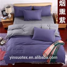 Ensemble de literie double couleur simple / couverture de mariage pour lit