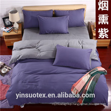 Plain double Solid Color Bedding Set/wedding cover for bed
