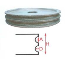 Venta caliente único estilo abrasivo general rueda de diamante verdadero brillo pulido almohadillas venta superior ruedas de borde de vidrio de la mano