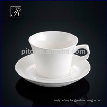 Royal fine bone china porcelain western design white coffee cup with saucer