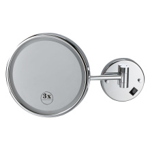Intelligente runde Wandvergrößerung beleuchteter Badezimmerspiegel
