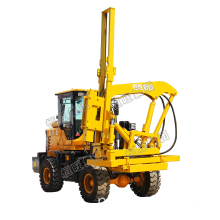 Highway Guardrail Post Hammer Pile Driver Machine
