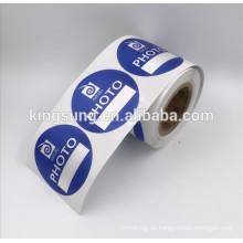 CIRCLE Custom bedruckte Klebeetikett Sticker Rolle