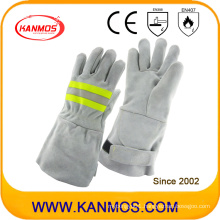 Reflective Industrial Safety Cowhide Split Leather Welding Hand Work Gloves (11123)