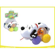 Plastic Cable Toys Dalmatians Pet Without Music