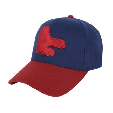 Corduroy Black Contrast Color Embroidery Baseball Cap