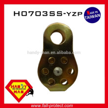 Yellow Zinc Plated Small Climbing Mounteering 13mm Steel Fixed Side Pulley