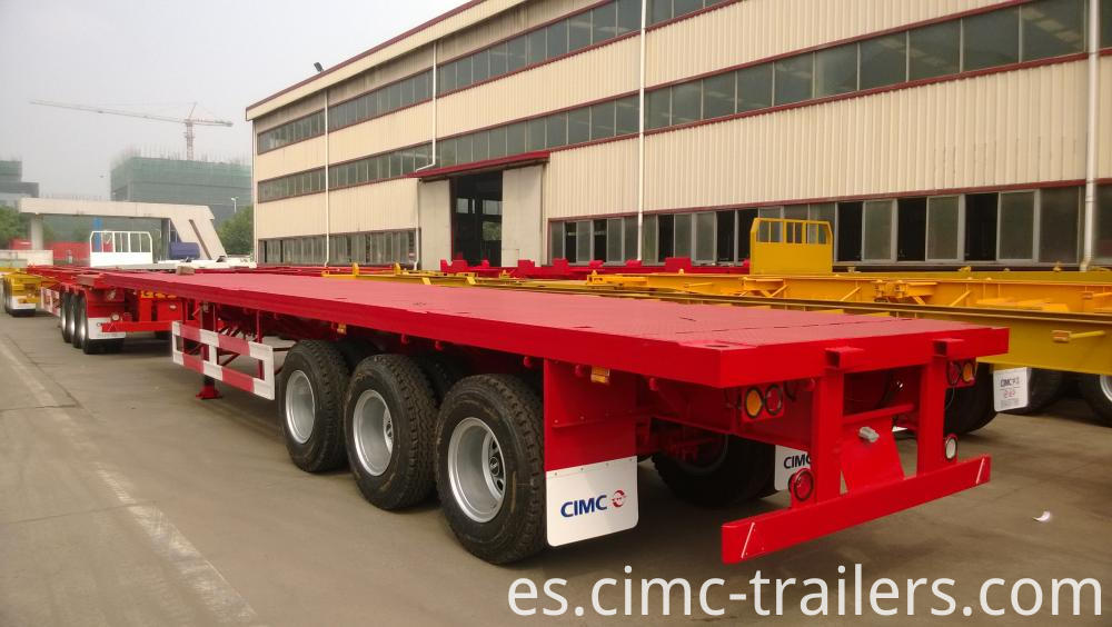 Lr 40 Tri Axle Flatbed Semi Trailer