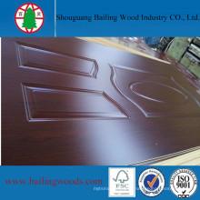 Орех Цвет меламина отлитая в форму HDF кожа двери для продажи