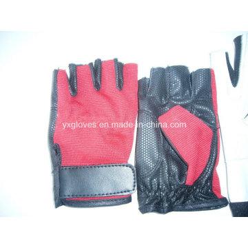 Half Finger Glove-Sport Glove-Bicycle Glove-Riding Glove-Weight Lifting Glove-Safety Glove