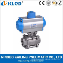 CF8m 1000 Wog Pneumatic Ball Valve with CE Certificate
