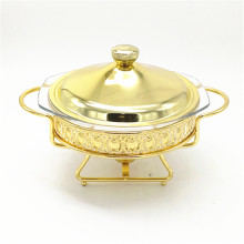 High Quality  Buffet Food Decorative Fancy/ Chafing Dish  with Gold Coated