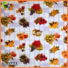Fruit Plastic Table Mat with Non-woven Backing