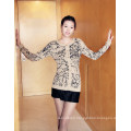 Ladies′ Cashmere Cardigan with Printting
