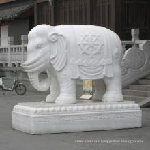 large public decoration elephant marble stone sculpture