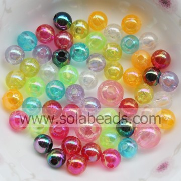 Outdoor 8mm Colorful Round Smooth Ball Imitation Swarovski Beads