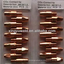 Binzel tipo 36kd soldadura contacto punta proveedor / gas corte punta