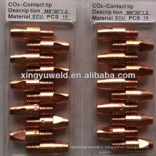 Binzel type 36kd pointe de contact de soudure / pointe de coupe de gaz